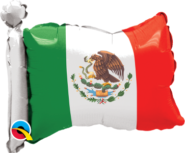 "14"" Mexican Flag- 5ct."